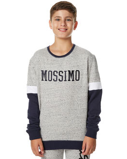 GREY MARLE NAVY KIDS BOYS MOSSIMO JUMPERS - 3M75GNGRY