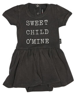 CHARCOAL WASH KIDS BABY ROCK YOUR BABY CLOTHING - BGD1823-SCCHAR