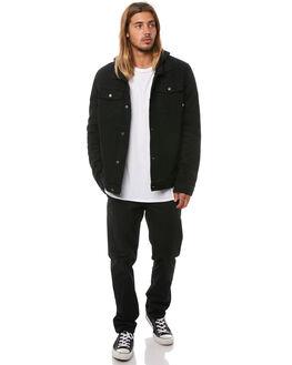 BLACK MENS CLOTHING RPM JACKETS - 8AMT27ABLK