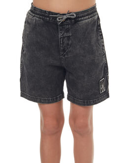 BLACK KIDS BOYS VOLCOM SHORTS - C1041700BLK