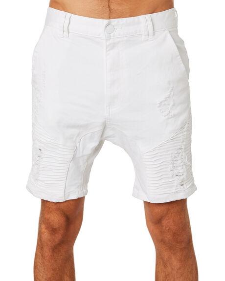 WHITE MENS CLOTHING NENA AND PASADENA SHORTS - NPMDS002WHTE