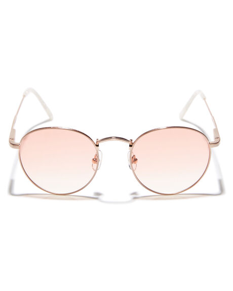 BRUSHED ROSE GOLD GRADIENT OUTLET WOMENS CRAP SUNGLASSES - 171WA94PFRSGLD