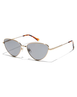BRUSHED GOLD TORT WOMENS ACCESSORIES CRAP SUNGLASSES - HONEB724PGBGDTO