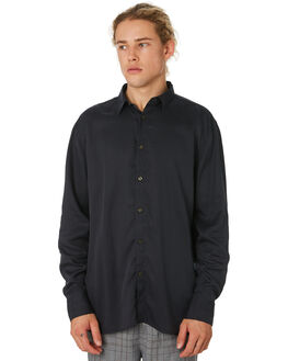 VINTAGE BLACK MENS CLOTHING ZANEROBE SHIRTS - 308-WORD-VNBLK
