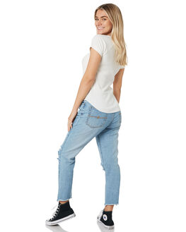 DUST BLUE WOMENS CLOTHING RUSTY JEANS - PAL1151DUB