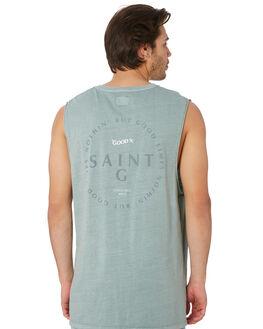 GREEN MENS CLOTHING ST GOLIATH SINGLETS - 4341024GRN