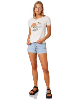 DIRTY WHITE WOMENS CLOTHING THRILLS TEES - WTS9-126AWHI