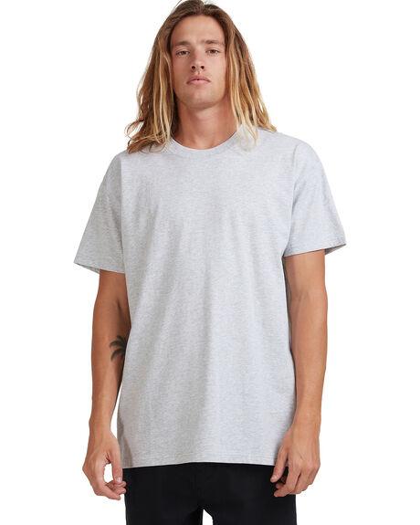 LIGHT GREY HEATHER MENS CLOTHING BILLABONG TEES - 9572051-LGH