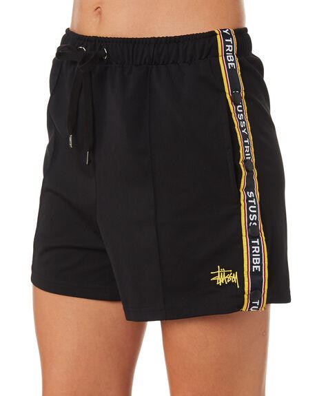 BLACK WOMENS CLOTHING STUSSY SHORTS - ST183615BLK
