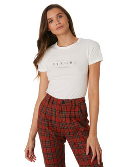 DIRTY WHITE WOMENS CLOTHING THRILLS TEES - WTW9-119ADWHT