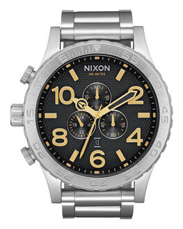 BLACK STAMPED GOLD MENS ACCESSORIES NIXON WATCHES - A0832730