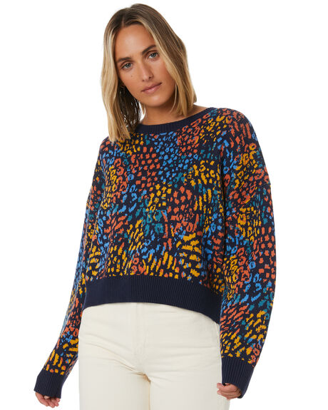 PARTY LEOPARD WOMENS CLOTHING COOLS CLUB KNITS + CARDIGANS - 401-CW6PTLEO