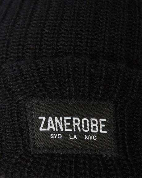 BLACK MENS ACCESSORIES ZANEROBE HEADWEAR - 910-TDKBLK