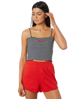 STRIPED WOMENS CLOTHING STUSSY SINGLETS - ST182203STR