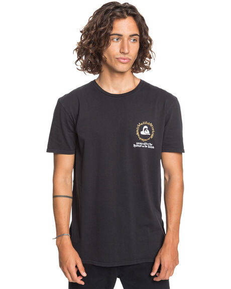 BLACK MENS CLOTHING QUIKSILVER TEES - EQYZT06122-KVJ0