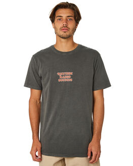 WASHED CHARCOAL MENS CLOTHING RHYTHM TEES - JAN19M-PT10-CHA
