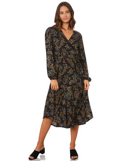 BLACK WOMENS CLOTHING THE HIDDEN WAY DRESSES - H8194442BLACK