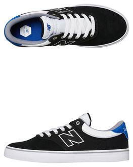 BLACK WHITE MENS FOOTWEAR NEW BALANCE SKATE SHOES - NM255BKB048