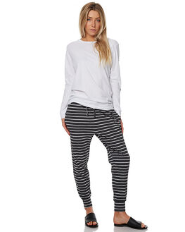 CHARCOAL STRIPE WOMENS CLOTHING SILENT THEORY PANTS - 6085016CHAR