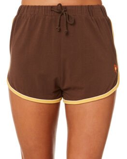 70S BROWN WOMENS CLOTHING AFENDS SHORTS - W184350BRO