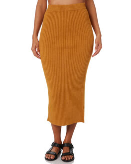DEEP MUSTARD WOMENS CLOTHING NUDE LUCY SKIRTS - NU23612DPMST