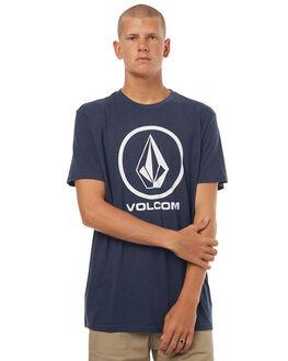 NAVY MARLE MENS CLOTHING VOLCOM TEES - A57117G1NVM