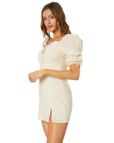 YELLOW OUTLET WOMENS SHAREEN DRESSES - AE10581-2YELW