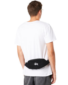 BLACK MENS ACCESSORIES STUSSY BAGS + BACKPACKS - ST791013BLK