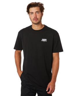 BLACK MENS CLOTHING HUFFER TEES - MTE94S40921BLKBK