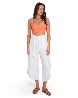 WHITE WOMENS CLOTHING BILLABONG PANTS - BB-6507415-WHT
