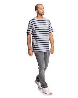 GREY HEATHER MENS CLOTHING DC SHOES TEES - EDYKT03479-KNFH