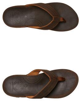 BROWN MENS FOOTWEAR KUSTOM THONGS - 4982206BRN
