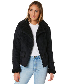 BLACK WOMENS CLOTHING LILYA JACKETS - SHJK01-LAW19BLK