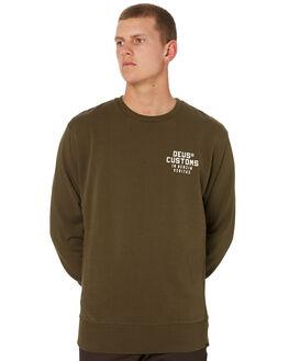 FOREST GREEN MENS CLOTHING DEUS EX MACHINA JUMPERS - DMW98109FRGRN