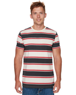 TARMAC BOLD STRIPE MENS CLOTHING QUIKSILVER TEES - EQYKT03810KTA3