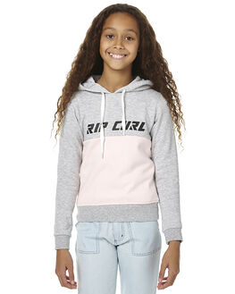 LIGHT GREY HEATHER KIDS GIRLS RIP CURL JUMPERS - JFEAX13233