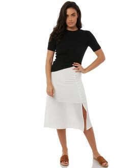 WHITE WOMENS CLOTHING ZULU AND ZEPHYR SKIRTS - ZZ1852WHT
