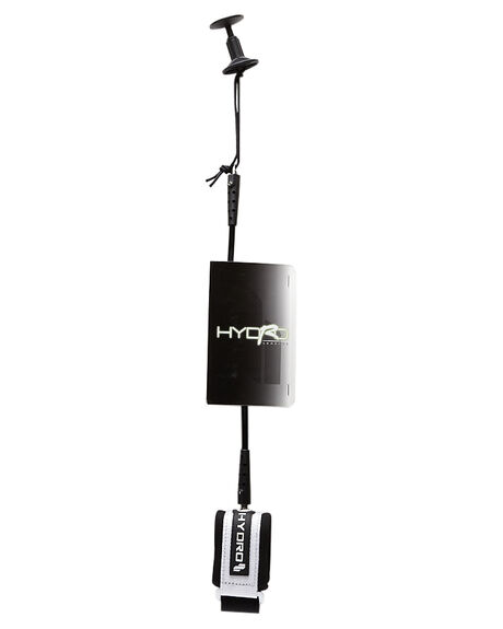 BLACK WHITE BOARDSPORTS SURF HYDRO LEASHES - HLEABLW1