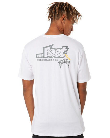 WHITE MENS CLOTHING LOST TEES - LTE-20401-WHT