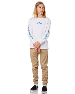 WHITE KIDS BOYS RUSTY TOPS - TTB0619WHT