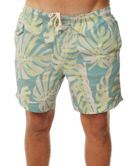 GREEN FORAL MENS CLOTHING DEUS EX MACHINA BOARDSHORTS - DMS72964GRN