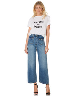 WHITE WOMENS CLOTHING A.BRAND TEES - 71455-001