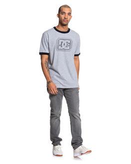 BLACK MENS CLOTHING DC SHOES TEES - UDYZT03711-KVJ0