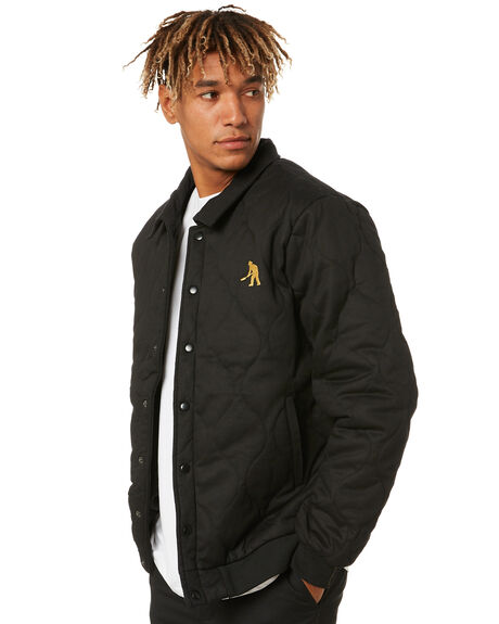 BLACK MENS CLOTHING PASS PORT JACKETS - PPQUILTJBLK