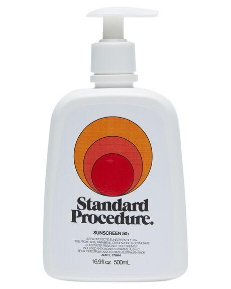 WHITE HOME + BODY BODY STANDARD PROCEDURE SKINCARE - SPSPF50500WHT