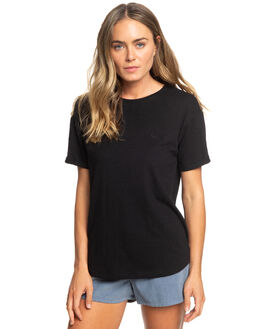 TRUE BLACK WOMENS CLOTHING ROXY TEES - ERJZT04710-KVJ0