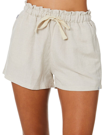 OATMEAL WOMENS CLOTHING RPM SHORTS - 20SW21AOAT