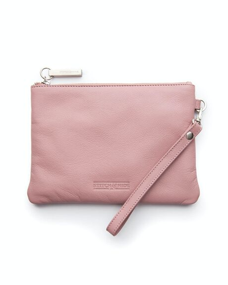 DUSTY ROSE WOMENS ACCESSORIES STITCH AND HIDE PURSES + WALLETS - WW_CASSIE_DUSTY_RO