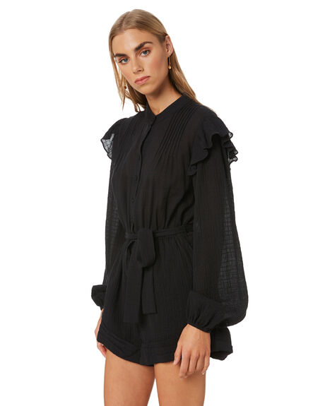 BLACK WOMENS CLOTHING MINKPINK PLAYSUITS + OVERALLS - MP2002465BLK