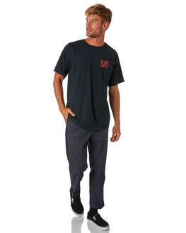 BLACK MENS CLOTHING SURF IS DEAD TEES - SD18P6-04BLK